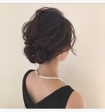 シンプル結婚式アレンジ|Lumier de mashu 坂本 芽映のヘアスタイル
