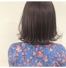 シンプル外ハネボブ|Lumier de mashuのヘアスタイル