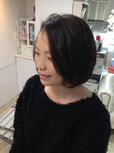 マカロンボブ 大人カーリー Hair Resort ACCESS 直井 ヒロミチのヘアスタイル