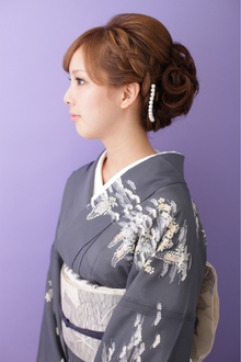 【和装】 編み込みアップスタイル ≪ichiko≫|ichiko  のヘアスタイル