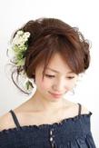 【結婚式】 アップ三つ編みカチューシャ ≪ichiko≫