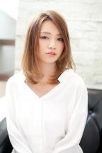 マットベージュ_おとなかわいい_フェアリーミディ|CREER 塚口店 田端 美香のヘアスタイル