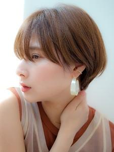 丸みがあるコンパクトなマッシュショート【ハンサムショート】|CREER 塚口店のヘアスタイル