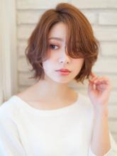 大人かわいいミニマムボブ。3Dカラー『オフェロショート』|CREER 住吉店のヘアスタイル