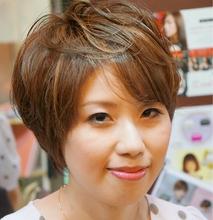 フェミニンショート|Hair design spoonのヘアスタイル