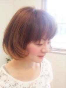 ふんわりショートボブ hair garden cocosiaのヘアスタイル