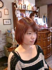 傷みでパサパサに乾燥してしまった髪を電子トリートメントを使ったカラーでツヤツヤサラサラ髪に