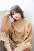 大人かわいい小顔フリンジミディ|CLAN 安斎 裕一郎のヘアスタイル