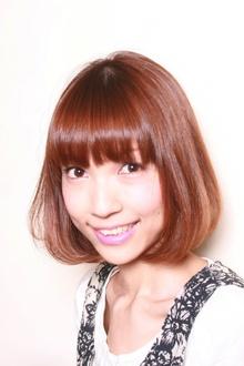 シンプルで綺麗なツヤのボブ|merci hair salonのヘアスタイル