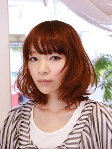 空気感たっぷりのバルーンボブ|merci hair salonのヘアスタイル