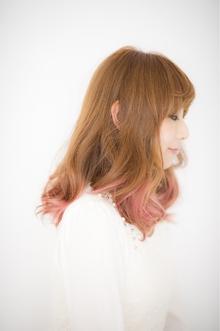愛されオンブレイグラデーションピンクミディ|Hayato Tokyoのヘアスタイル