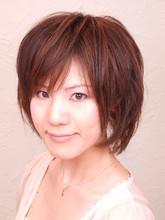 ウィービングとドライカットで自然なショートヘア|FRAME hair 木村 則子のヘアスタイル