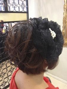 パーティーヘア、ショートスタイル|FRAME hairのヘアスタイル