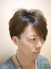 キレイめアシンメトリー2ブロック|BEAUTY NoAhのメンズヘアスタイル