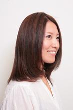 自然にまとまるナノスチーム縮毛矯正|Hair&Make BONDのヘアスタイル