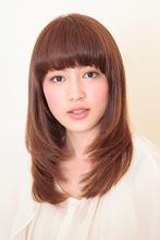 まとまりが嬉しい、重軽、セミロング|Hair&Make BOND 大野 清美のヘアスタイル