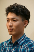 men'sツ—ブロックナチュラルパーマ|AEG 南平店のメンズヘアスタイル