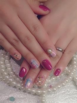 ピンク×ツイードが可愛い★|ネイル&アイラッシュ Jewels 藤井寺店のネイル