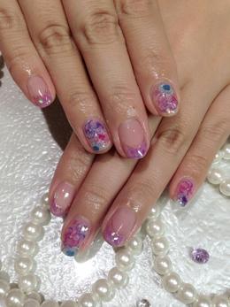 指先透き通るグラスネイル|ネイル&アイラッシュ Jewels 藤井寺店のネイル