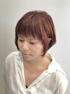 ナチュラルショート|salon de'  allianz canalのヘアスタイル