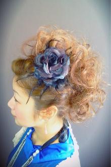 リーゼント風カッコ可愛いアップスタイル|Chart Reuseのヘアスタイル