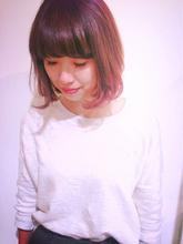 ピンクのボブ|one by one CLACCA 大前 香のヘアスタイル