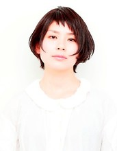 前髪すっきり ショートボブ|visunaのヘアスタイル