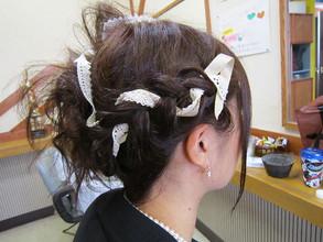 結婚式のあみこみアップスタイル|びゅうてぃぷらざコア 東岩槻店のヘアスタイル