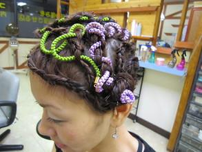 オール編み込み!お祭りコーンロー|びゅうてぃぷらざコア 東岩槻店のヘアスタイル
