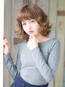 フェミニンスパイラル風カールミディ|L'avenir for hairのヘアスタイル