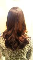 ローレイヤー巻き髪