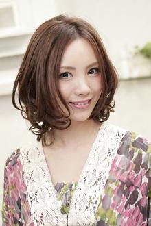 カジュアルカーリーボブ|Polaris hair&make 五反田のヘアスタイル