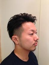 ワイルドツーブロックパーマ hair Salon GINZA MATSUNAGA 新宿店のヘアスタイル
