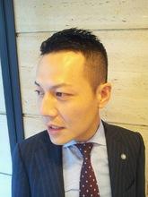 """""""本田圭佑""""風ソフモヒスタイル hair Salon GINZA MATSUNAGA 新宿店のヘアスタイル"""