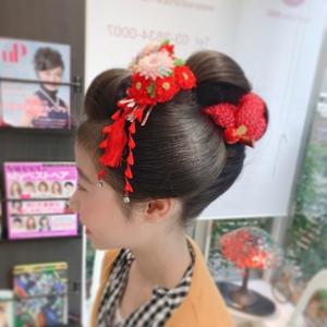 七五三アップスタイル hair make MIKIのヘアスタイル