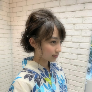 浴衣ヘアセット hair make MIKIのヘアスタイル