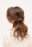 ルーズミディアム・ハーフアップ|hair make MIKIのヘアスタイル