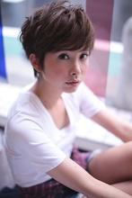 カジュアルショートマッシュボブ|gokan omotesandoのヘアスタイル