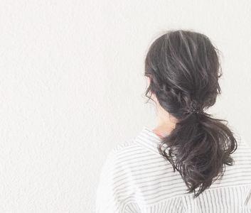 ポニーテール|【頭皮・髪のエステ専門店】Hair Vall RaQ のヘアスタイル