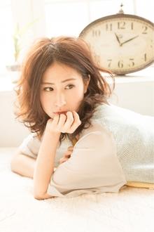 フレンチ風ガーリーカールミディ☆  担当 大柳|AUGUST hair nailのヘアスタイル