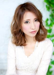 大人カールセミディ 担当 森 azure/AVEDA hair&spaのヘアスタイル