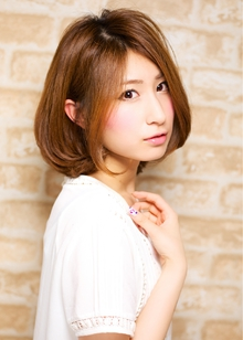 美髪!ワンカールミディ 担当 森|azure/AVEDA hair&spaのヘアスタイル