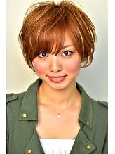 シャーベットカラーショート azure/AVEDA hair&spaのヘアスタイル