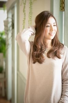 ツヤサラサラモードで大人かわいい前髪のラブクラシカルヘア98|Hair art chiffon 川口東口店のヘアスタイル