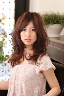ツヤサラサラモードで大人かわいい前髪のラブクラシカルヘアー62|Hair art chiffon 川口東口店のヘアスタイル