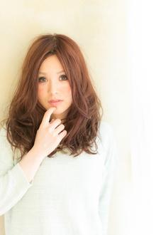 ツヤサラサラモードで大人かわいい前髪のラブクラシカルヘア119|Hair art chiffon 川口東口店のヘアスタイル