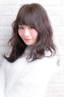 ツヤサラサラモードで大人かわいい前髪のラブヘア|Hair art chiffon 川口東口店のヘアスタイル