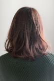 ツヤサラサラモードで大人かわいい前髪のラブヘア