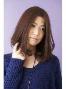 ツヤサラサラモードで大人かわいい前髪のラブクラシカルヘア41 Hair art chiffon 池袋東口店のヘアスタイル