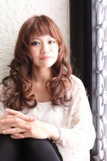 ツヤサラサラモードで大人かわいい前髪のラブクラシカルヘア56|Hair art chiffon 池袋東口店のヘアスタイル